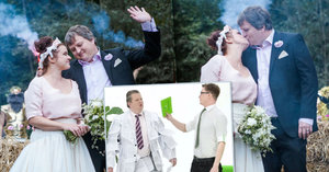 Hamižný bankéř z reklamy Tomáš Jeřábek: Tajná svatba! Vzal si sekretářku Tondy Blaníka