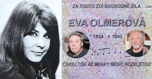 Bratr Evy Olmerové (†59) versus pražský úřad: Hádky nad pamětní deskou!