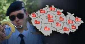 Mapa kriminality v Česku: Nejvíce se vraždí na jižní Moravě