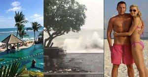 """Dovolená v ráji se změnila v horor: Moderátory Primy rozbouřené moře """"navštívilo"""" až v hotelu!"""