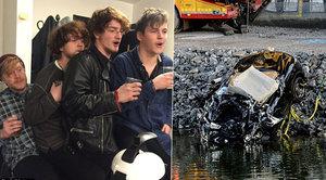 Poslední foto před smrtí: Slavná britská skupina zemřela ve zdemolovaném vraku!