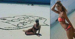 Miss Franková odletěla k moři: Na pláži vystavila své sexy vnady!