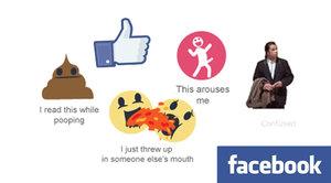 »To mě vzrušuje« a »přečetl jsem si to při kakání«: Lidé si utahují z nových smajlíků Facebooku
