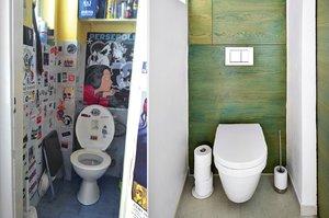 Proměna: WC konečně nevypadá jako skladiště. Získalo barvy, poličku a ještě šetří vodu
