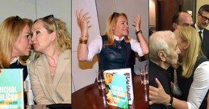 Rozzářená Havlová: Klábosila s Basikovou, pila šampíčko, rozhazovala rukama a potkala se se svým idolem!