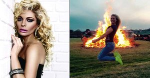 Lucko, tebe by byla škoda! Borhyová při pálení čarodějnic cvičně startovala koště!