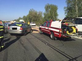Na D1 se srazilo 7 aut: Dálnice je uzavřena