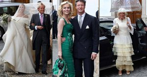 Na svatbu britské Lady Charlotte a miliardáře Dominga přijela i Eva Herzigová a vévodkyně Camilla