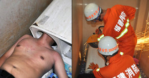 Muži uvízla hlava v pračce, zachránit ho museli hasiči