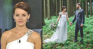 Moderátorka Gábina Kratochvílová se vdala: Romantika v lese!