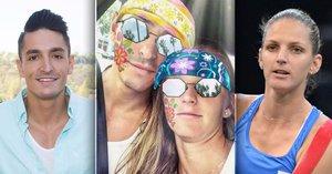 Hrdlička dál ztrapňuje tenistku Plíškovou: Rádoby vtipné malůvky na obličeji jí spíš ubližují
