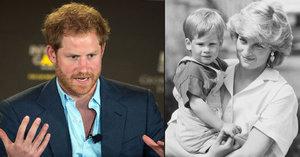 Princ Harry o smrti mámy Diany: Mrzí mě, že jsem o tom nemohl dlouho mluvit