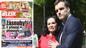 Hana Gregorová (63) a milenec Ondra (31) se zasnoubili! Vdova řekla ANO mladému otci dvou dětí