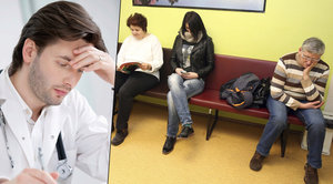 Šetření na pacientech a dlouhé čekání? Lékaře ženou z ambulancí do nemocnic