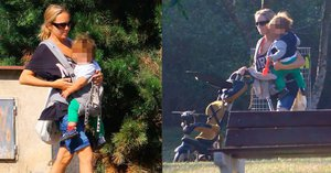 Lucka Vondráčková se synem v parku: Rozkošného zrzečka nosí v kapse jako klokan!