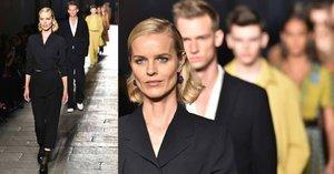 Eva Herzigová (43) stále v kurzu: Na týdnu módy v Miláně se opět prošla po mole