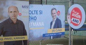 Lidovcům polepili billboardy i auto samolepkami ANO. Volové, zlobí se kandidát