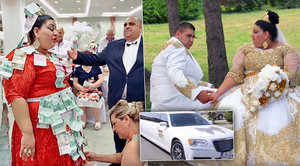 Česko-slovenská romská svatba za milion hitem internetu: Nevěstu zasypali zlatem a bankovkami