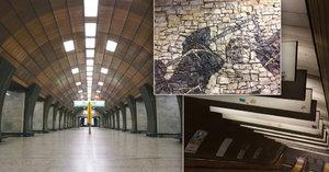 Tajemství stanice metra Želivského: Ze všech je nejzachovalejší, má připomínat středověk
