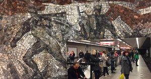 Unikáty ve stanici metra Florenc: Mozaika bitvy i geologické muzeum
