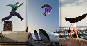 Takhle v Praze riskují životy: Stojky nad propastí, skoky přes budovy