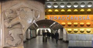 Tajemství stanice Hradčanská: Rudou hvězdu odstranili, text Ústavy ČSSR tu nechali