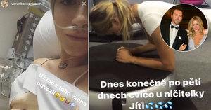 Jágrova Veronika tvrdě cvičí, jen co jí vytáhli hadičky z nosu: Riskuje zdraví?