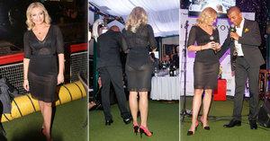 Borhyová na veřejnosti ve stahovacích kalhotkách a podprsence způsobila poprask!