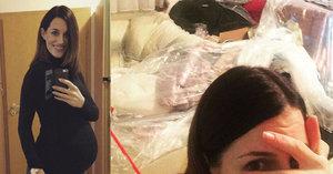 Modelka Křížková: Před porodem má v bytě jak po výbuchu! Co se stalo?