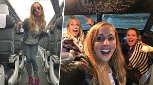 Tři krásky se ocitly samy v letadle: Zapařily si jako rockové hvězdy!