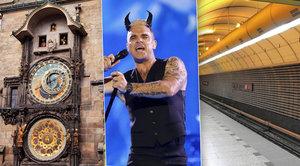Co čeká Prahu v roce 2017: Oprava orloje, Robbie Williams i zavření metra