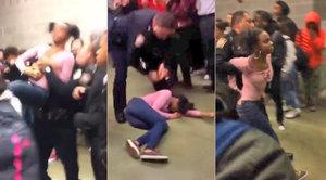 Rvačku studentek vyřešil strážník tvrdým chvatem. Máme video