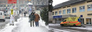 Ledovka v Praze potrápila chodce: Přes dvacet lidí se zranilo