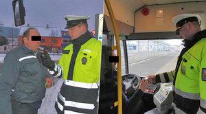 Autobusy plné lidí řídili opilí šoféři! Policie jich vyhmátla při razii šest