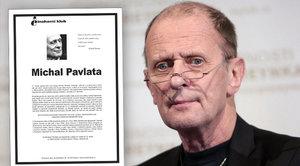 Dojemné parte Michala Pavlaty: Kdo je jeho autorem?