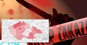 Mapa kriminality: Kde se v Česku nejvíce vraždilo a znásilňovalo?