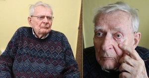 Skopeček (91) po operaci oka pořád nevidí! Uřízli mi obočí, stěžuje si herec