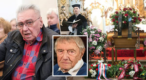 Pohřeb režiséra Františka Mišky (†97): Býval jen veselý, nebo nas*aný, vzpomíná Josef Zíma