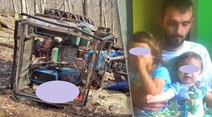 Tragédie: Otce dvou dětí Martina (†26) zavalil v lese traktor