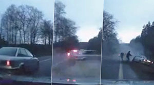 Drsná honička na Liberecku: Cizinec v audi ujížděl, policisté ho smetli ze silnice!