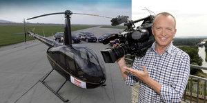 Vyfasuje Voříšek na Primě padák? Zprávy se chlubí akčním vrtulníkem
