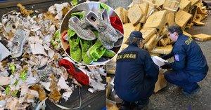 Celníci rozdrtili padělané boty za 75 milionů: Proč je nedali potřebným?
