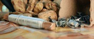 Vychytávky Ládi Hrušky: Kotvičky na ubrus z kamenů