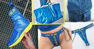 Ruksak, boty i tanga: Co vše lze vyrobit z legendární modré tašky IKEA?