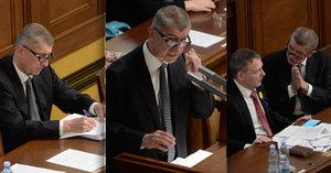 Babiš ve 20 obrazech: Křik, prosby i plná složka ve Sněmovně