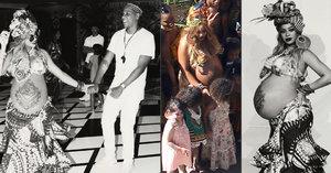 Beyoncé na těhotenském večírku: Velké bříško si nechala potetovat!