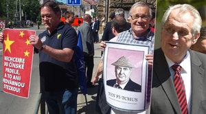 Zeman v Brně: Zastupitelé ho »zazdili«, s urážkami ho vítali demonstranti