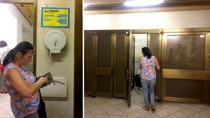 Toaleťák od obsluhy a chybějící zámek. To je WC na Náměstí Republiky za 8 Kč