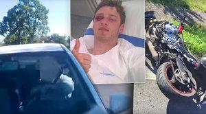 Fabie smetla dvě motorky: Kluci si natočili málem »vlastní smrt«
