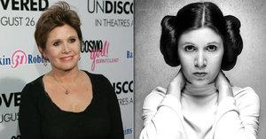 Princezna Leia měla v době smrti v těle kokain, heroin a extázi